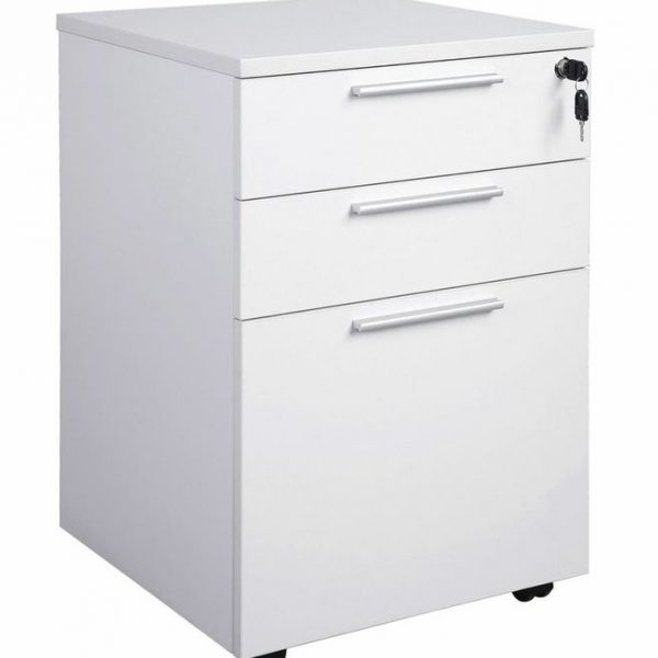 Mobile pedestal 2 drawer + 1 file 640h x 470w x 460d