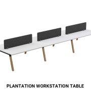 Plantation workstation table